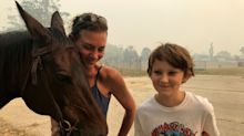 Mother who fled Australian bushfires on horseback describes heartache after returning home to find house ransacked