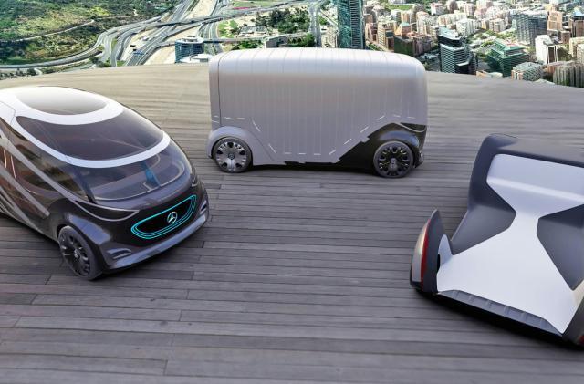 Mercedes self-driving van concept swaps bodies to match its cargo