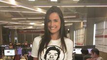 Com visual despojado, Mari Palma faz sucesso com seu estilo na TV