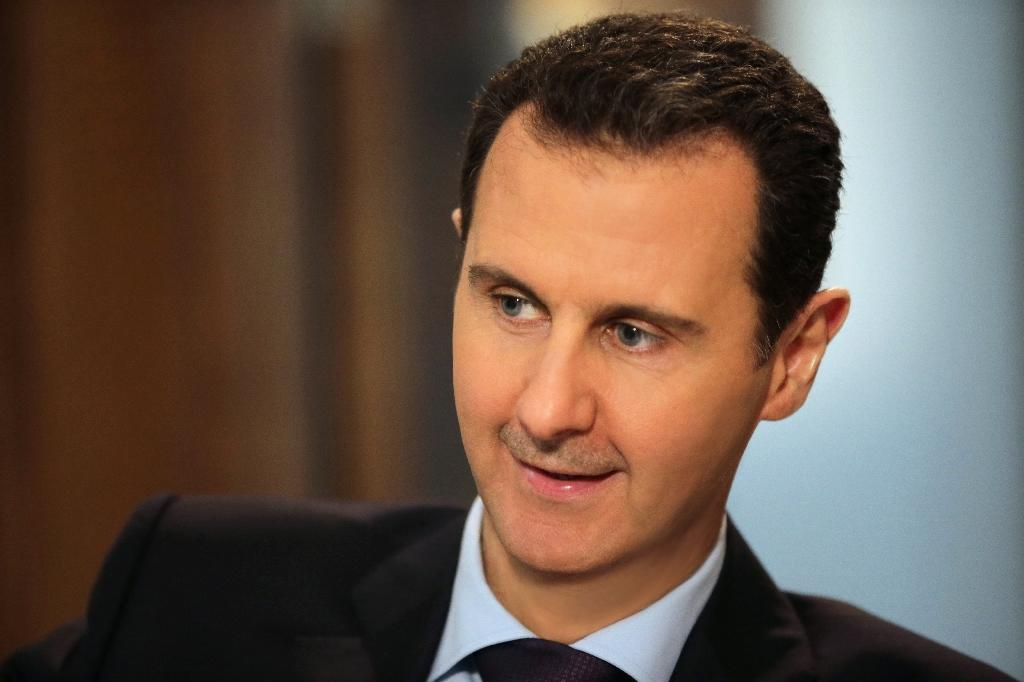 Syrian President Bashar al-Assad speaks to AFP in Damascus on February 11, 2016