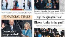 """""""Al rescate de América"""": la prensa internacional confía en Biden para unir al país"""
