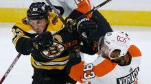 Bergeron, Marchand score two apiece, Bruins beat Flyers 6-1