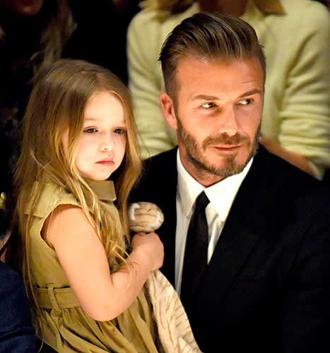 David Beckham Never Ever Wants to Cut Daughter Harper\'s Hair ...