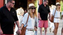 James Packer hand-in-hand with new girlfriend