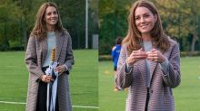 Kate Middleton's $399 checkered coat is the perfect look for fall - get the royal's collegiate look for less