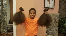 Little Boy Cuts Off All His Hair and Donates It To Cancer Survivors