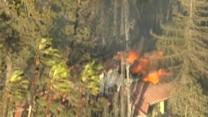 Across America: Fast-moving wildfire threatens homes