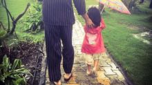 Candid! Akshay Kumar Posts An Adorable Picture Of Taking A Stroll With Daughter Nitara