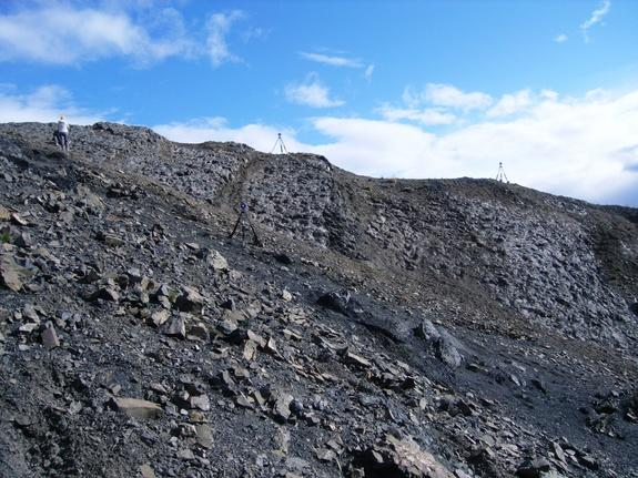 Researchers document the full extent of the amazing dinosaur track site discovered in Denali National Park.