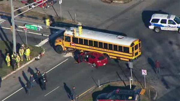 Police investigate car, school bus crash in Winslow Twp.