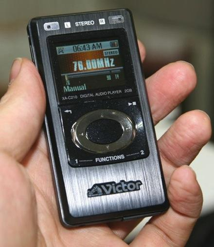 JVC Victor's Alneo flash players get gapless playback and USB streaming
