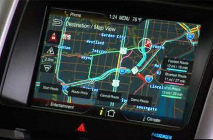 Ford Eco-Route plots most fuel efficient path, tells you how much longer it'll take