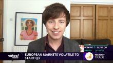 European markets volatile to start Q3