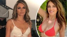 #Throwback: Liz Hurley's surprise on-set lingerie pic turn heads