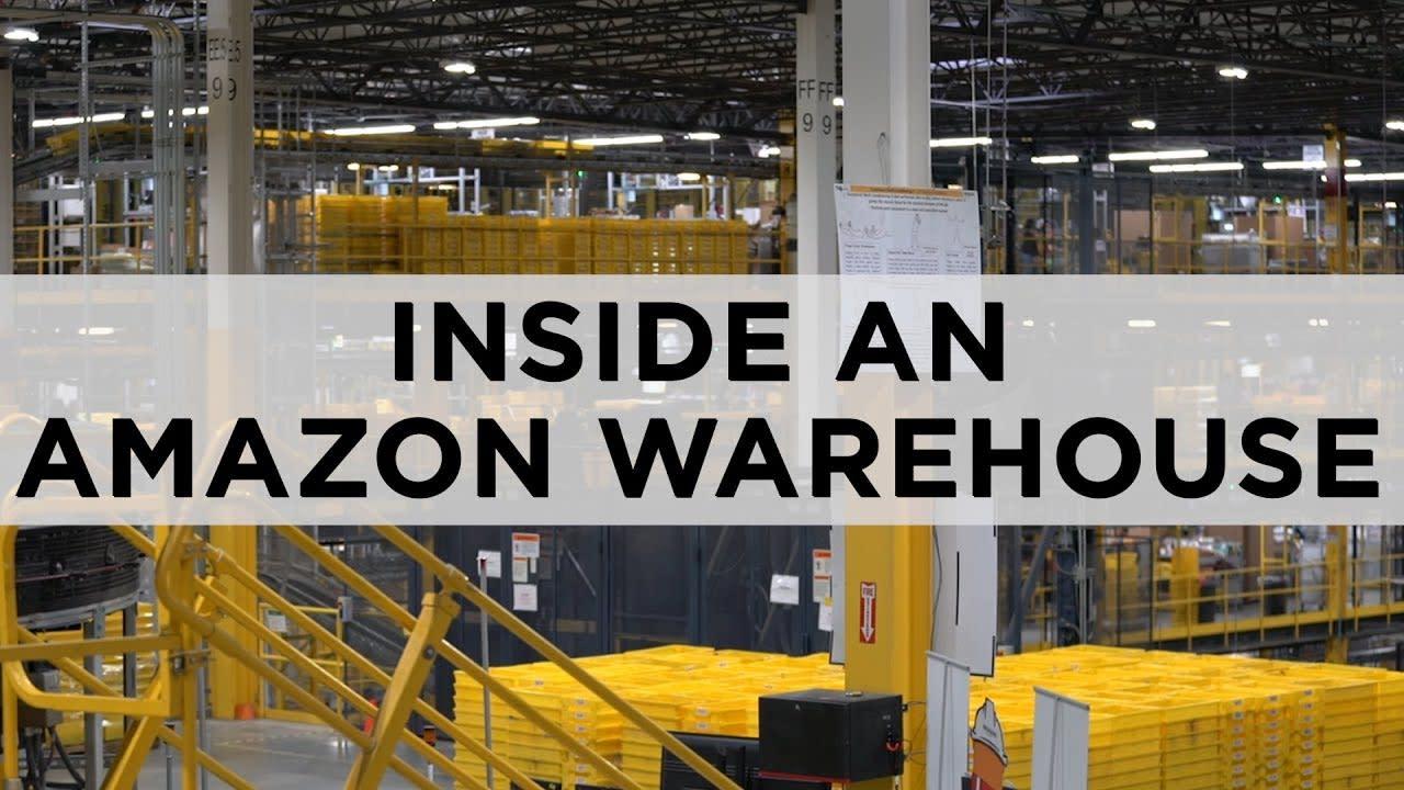 What's it like inside a massive Amazon warehouse