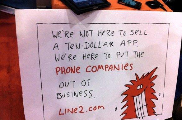 Line2 adds unlimited phone, voicemail and texting to your iDevice for $10 a month