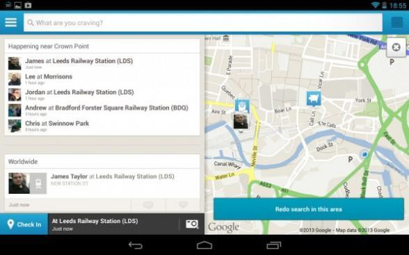 Foursquare brings a native tablet UI to Android, while iOS waits