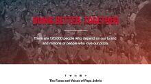 Papa John's launches new Schnatter-free ads, website