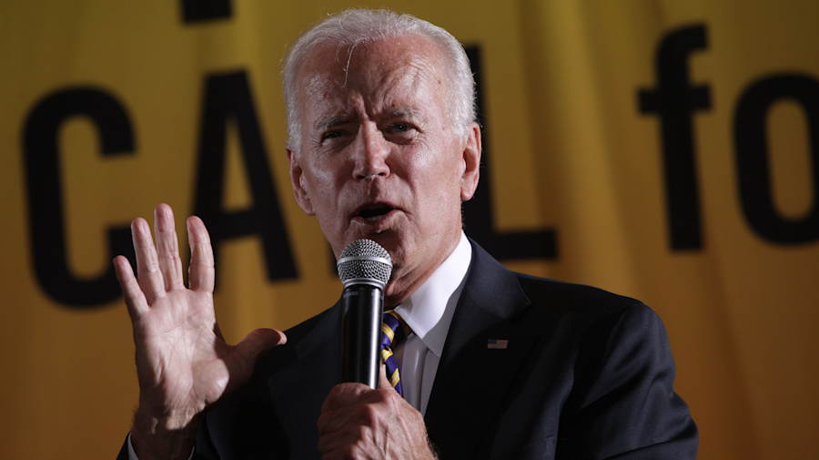 Biden blasts Trump for stirring racial tensions
