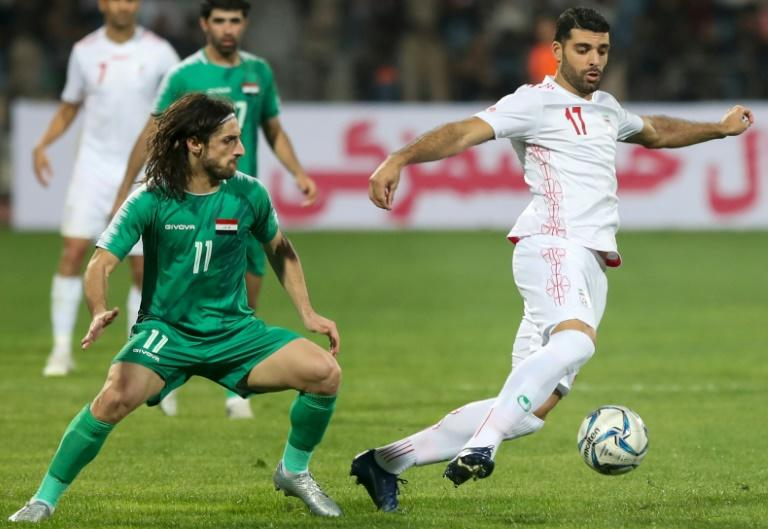 Thursday's match ended in a 2-1 victory for Iraq, in much-needed morale boost for protesters (AFP Photo/Khalil MAZRAAWI)