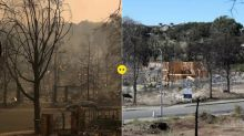 California's Tubbs fire – then and now