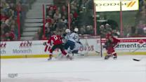 Milan Michalek buries one on Al Montoya