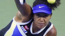 The Latest: Osaka begins US Open semifinal vs Brady