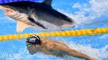 Michael Phelps didn't race an actual great white shark and people are mad