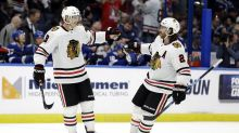 Blackhawks stun Oilers 6-4 in series opener