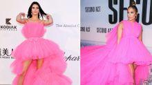 Kendall Jenner wears H&M version of J Lo's massive Giambattista Valli gown