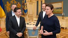 Tom Cruise meets with Ukraine president at center of Trump impeachment inquiry: 'You're good-looking!'