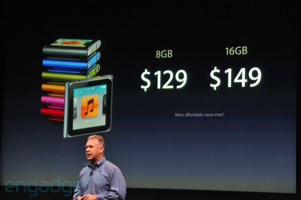 Apple's iPod nano now $149 for 16GB and $129 for 8GB (update: 2010 nanos get the goodies too)