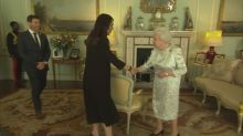 The Queen hosts Jacinda Ardern and Clarke Gayford