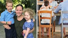'Nightmare' surprise at dinner sends mum and kids running from home