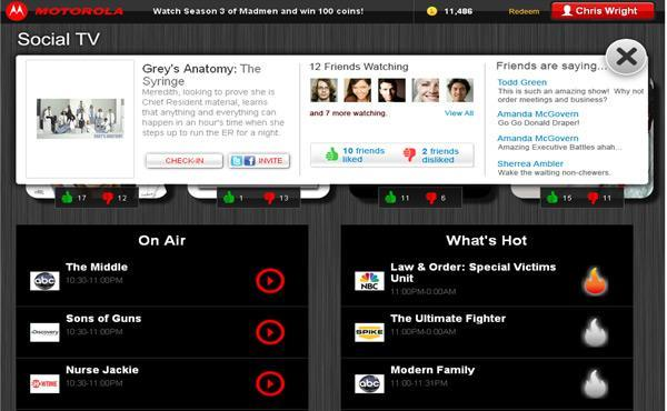Motorola's SocialTV app will turn your Xoom or Atrix into a communicative couch companion