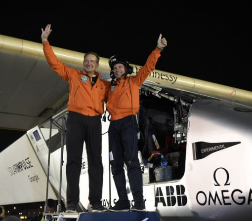 Solar-powered Solar Impulse plane completes its trip around the world
