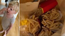 Boy, 3, orders $50 worth of McDonald's fries from mum's UberEats app