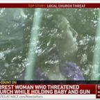 Congregation tackles woman who burst into church with baby, gun on Easter Sunday