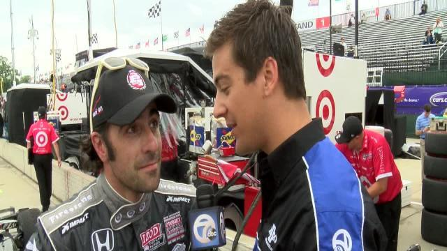 Franchitti wins Chevorlet Detroit Grand Prix pole, but penalty puts Viso up front