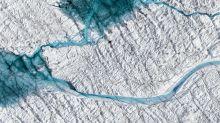 Las imágenes que muestran cómo Groenlandia se está derritiendo debido al calentamiento global