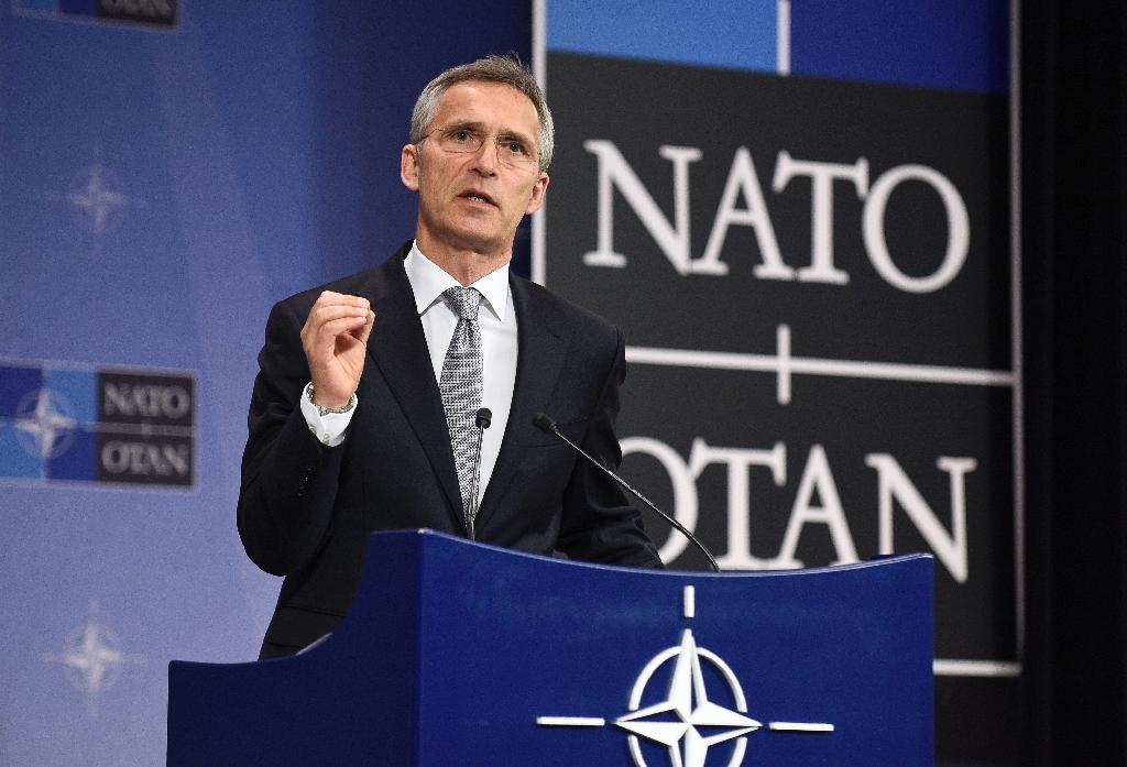 NATO Secretary General Jens Stoltenberg gives a press conference at the NATO headquarters in Brussels on July 13, 2016