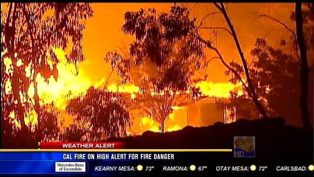 Cal Fire on high alert for fire danger