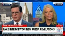 'You're Lying': Stephen Colbert Mocks Kellyanne Conway About Donald Trump Jr.