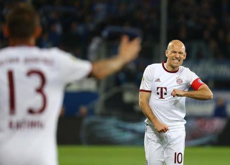 Robben durante jogo do Bayern contra o Hoffenheim