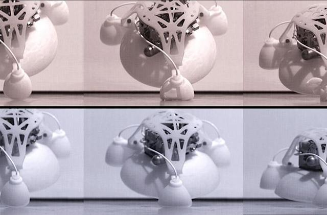Mollusk-inspired robot will hunt you down one hop at a time