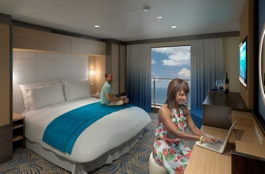 Royal Caribbean uses 80-inch HDTVs to create 'virtual balcony staterooms'