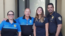 Police escort teen daughter of late sergeant to first day of school