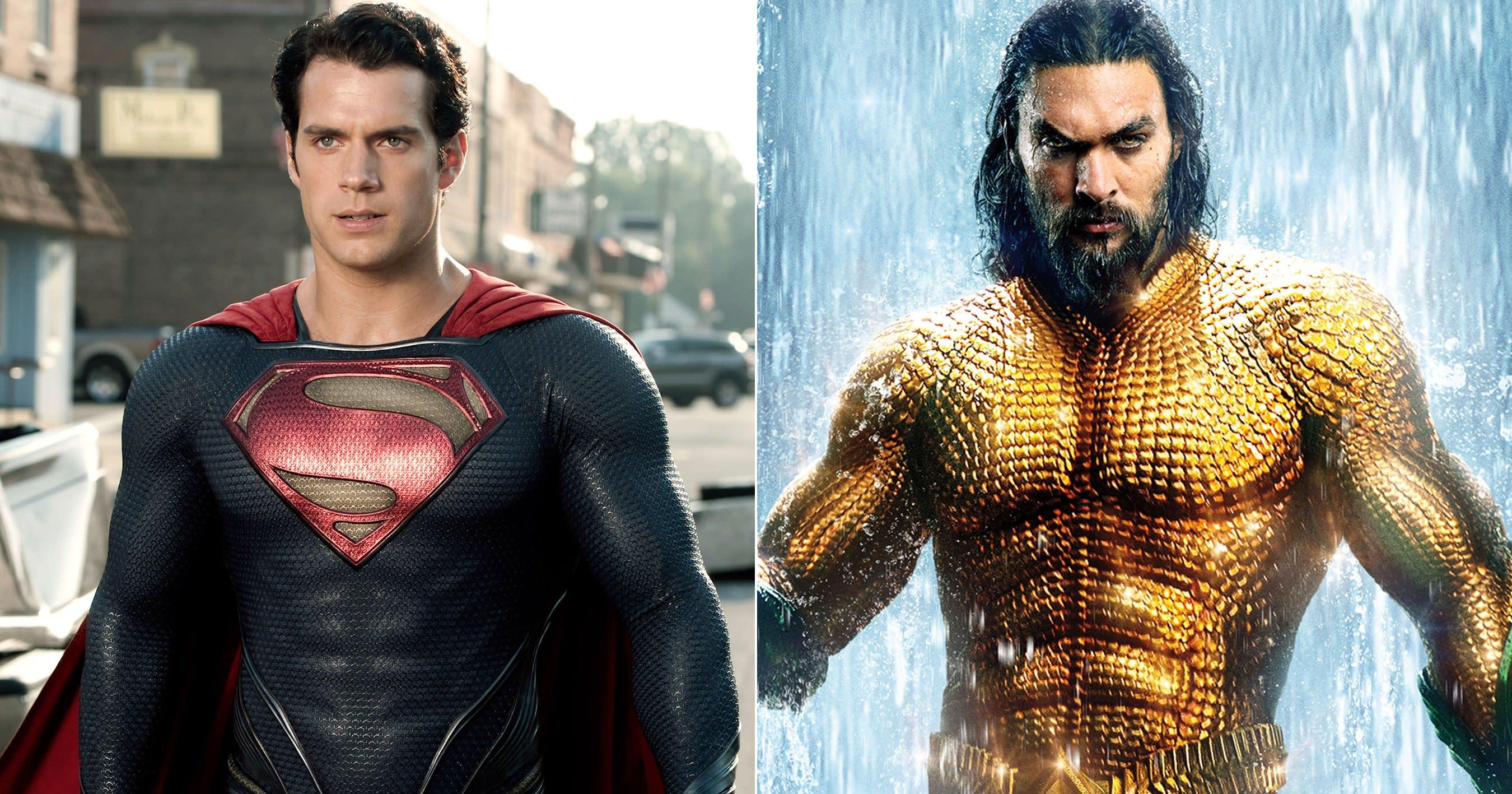 Henry Cavill Posts A Shirtless Jason Momoa Impression To Praise Aquaman