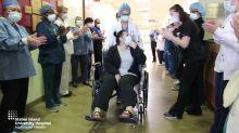 Staff Cheer as New York Mom Leaves Hospital After Beating Coronavirus