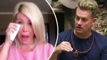 Grant Denyer's pregnant wife tears up during I'm A Celeb chat